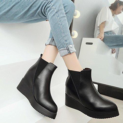 Entrega Rápida Venta 2018 Jamicy Donna moda pelle spessore Bottom Martin stivali scarpe Abastecimiento De Descuento yujcs6O