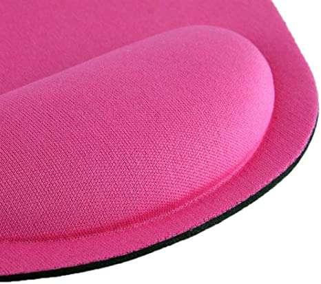 Magenta Ultra Slim Cloth Wrist Rest Mouse Pad