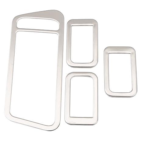 Emblema Trading teclas multifunción Medio Consola salpicadero embellecedor verkleidung Marco aspecto de acero inoxidable Auto accesorios