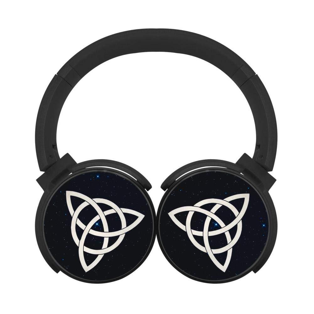 GfgTHJ ケルトトリニティノット ワイヤレス Bluetooth ヘッドホン ディープバス ヘッドセット オンイヤー HiFi Bluetooth イヤホン ブラック B07P24QGWL