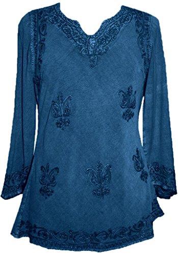 Agan Traders 127 B Medieval Vintage Top Blouse (Large; Blue 2)]()