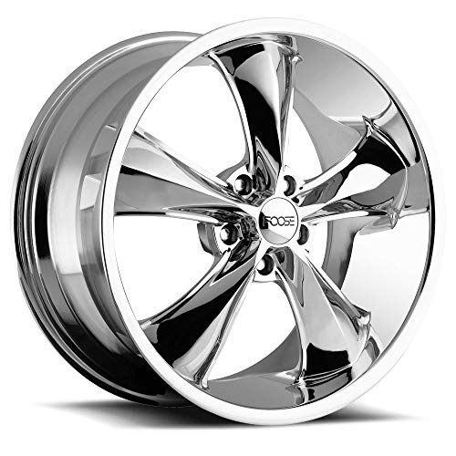 Foose Legend 17x8 Chrome Wheel / Rim 5x4.75 with a 1mm Offset and a 72.6 Hub Bore. Partnumber F10517806145 ()