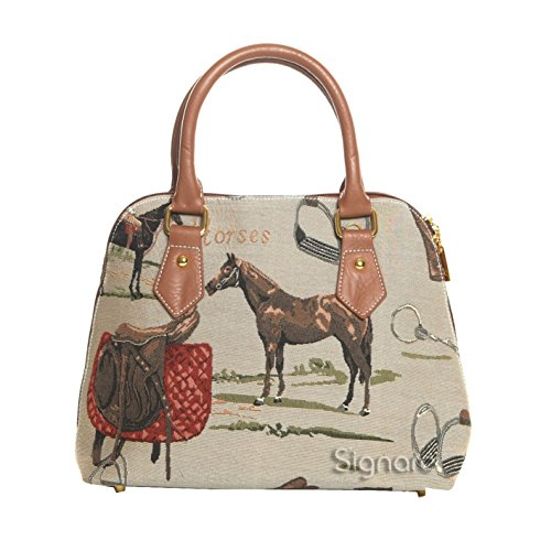 Signare-Tapestry-Handbag-Satchel-Bag-Shoulder-Bag-and-Crossbody-Bag-and-Purse-for-Women-with-Horse-Conv-HOR