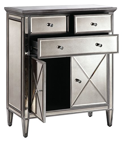 Stein World Dana Accent Cabinet, Antique Silver Finish with Brush