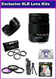 Sigma 18-250mm f/3.5-6.3 DC OS HSM IF Lens for Canon Rebel XT XTi 350D 400D 50D XSI XS T1I T2I 5D 10D 20D 30D 450D 1000D 7D Includes PRO HD 3PC Filter Kit + 7 Year Lens Warranty + Flower lens Hood + 4PC Close Up Lens Kit + More