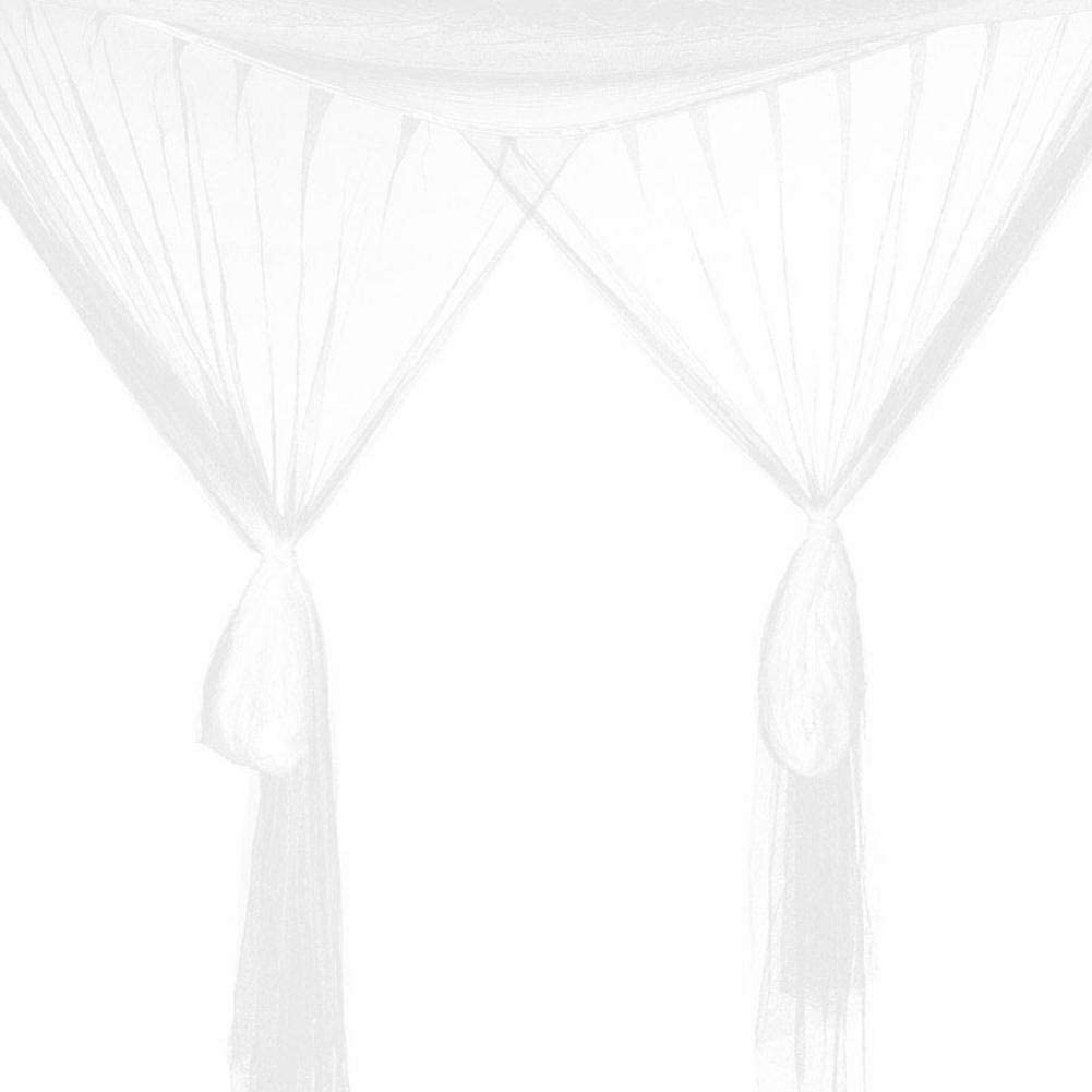 heresell Naturals Mosquito Net for Bed Canopy Large Tent for Double to King Size Finest Holes Square Netting Curtain 4Entries Easy to Install
