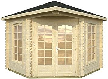 Caseta de jardín Freiburg, madera y chapa: Amazon.es: Jardín