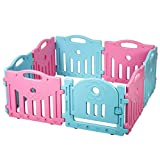 Baby Playpen 8 Panel Playard Kids PlaySafe Activity Center With Locked Door