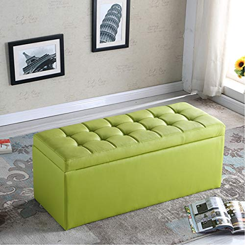 ZHOU YANG Home Shoe Change Stool Storage Can Be Stored in The Fitting Room Stool Clothing Store Sofa Bench Bench Stool (Color : Green)