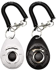 2 Pack Dog Training Clicker with Wrist Strap, Durable Lightweight Easy to Use, Pet Behavioral Training for Cats Puppy Birds Horses