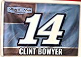Clint Bowyer #14 2017 Number Version 3x5 Flag Outdoor House Banner Nascar Racing