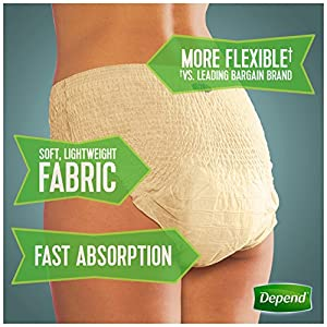 Depend FIT-FLEX Incontinence Underwear for Women, Maximum Absorbency by Depend