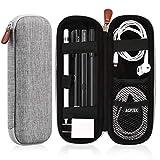 AGPTEK Apple Pencil Case Holder - Premium Leather Carrying Case for Stylus iPad Pro Pen - Pencil - Samsung - Huawei - Apple Pen Accessories - USB Cable - Earphone - Fountain Pen - Gray
