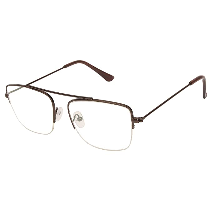0517e0e769a Arzonai Raees Rectangle Brown-Transparent UV Protection Sunglasses For Men    Women  MA-9999-S18   Amazon.in  Clothing   Accessories