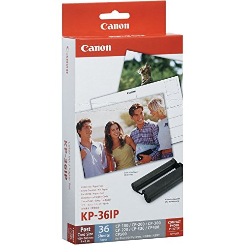 Canon SELPHY CP1300 Wi-Fi Wireless Compact Photo Printer (Black) with KP-36IP Color Ink Paper Set + Power Bank + Kit by Canon (Image #3)