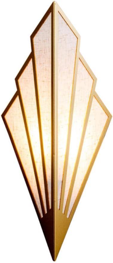 Applique da interno Lampada da parete in paralume in ferro ...