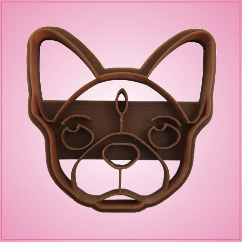 Embossed French Bulldog Cookie Cutter 3-1/4 Inches
