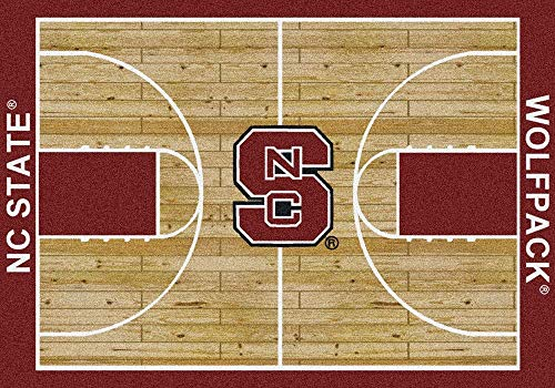 Milliken 4000016033 North Carolina State College Home Court Area Rug, 10'9