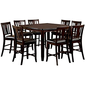 Lovely Furniture Of America Frederick 9 Piece Square Counter Height Table Set With  16 Inch