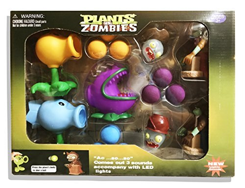 (Plants Vs Zombies Gift Box: Firepea, Chomper, and Snowpeas)