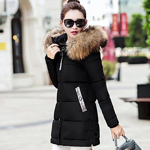 Baby-QQ Nice Fur Collar Women Winter Thick Jackets Long Cotton Padded Coat Female Hooded Warm Outerwear Overcoat Slim Parka Jacket at Amazon Womens Coats ...
