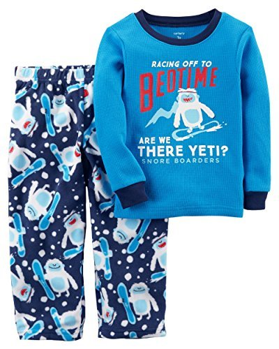 Carter's Boys' 12M-14 2 Piece Racing to Bedtime Yeti Fleece Pajamas 7