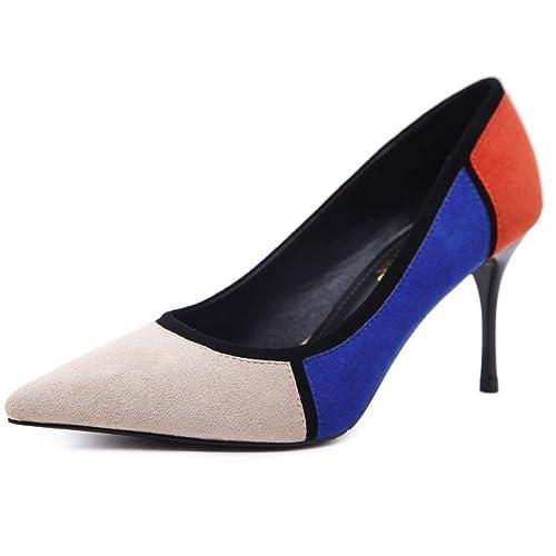 Tacchi Alti da Donna Abbinamento di Colori Scarpe da Donna