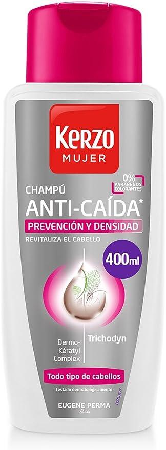 Kerzo Champú Anticaída para Mujeres - 400 ml: Amazon.es: Belleza