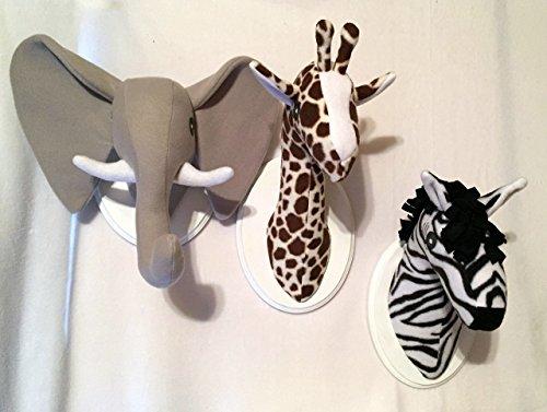 - Stuffed Safari Animal head trio/Stuffed animal heads/Faux animal heads/Best Baby Shower Gifts