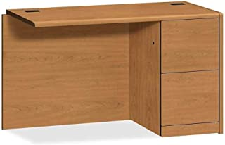 "product image for Hon Right Return Pedestal Desk, 48"" x 24"" x 29-1/2"", Harvest"