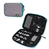 Hynes Eagle Travel Universal Cable Organizer Electronics Accessories Cases For Various USB, Phone, Charger and Cable, Chevron
