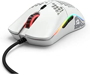 Glorious PC Gaming Race Model O Gaming-Maus - White, Matt