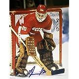 Vladislav Tretiak Autographed 8x10 Photograph - USSR (Red)