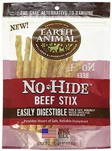 Amazon.com: Earth Animal No-Hide Beef Stix, 10ct (Beef