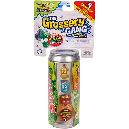 Gang Figure Set - Grossery Gang Series 2 Rotten Soda set of 4 Surprise Grossery's includes Storage Can