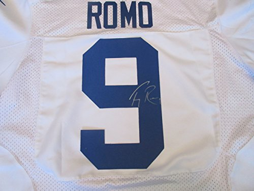 (Tony Romo Autographed White Dallas Cowboys Jersey W/PROOF, Picture of Tony Signing For Us, Dallas Cowboys, Eastern Illinois University, Pro Bowl,)