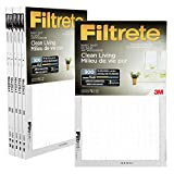 Filtrete 16x25x1 MPR 300 Pleated AC Furnace Air Filter, Basic Dust Clean Living, 6-Pack
