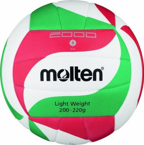 Moltenバレーボール – 5、ホワイト/グリーン/レッドby Molten   B01LFM8P94