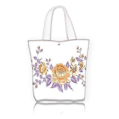 be2da66a8 Amazon.com: Women's Canvas Tote Bag -W12 x H14 x D4.7 INCH/reusable ...