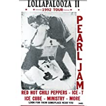 "Lollapalooza II Pearl Jam, Red Hot Chili Peppers and more... 14"" X 22"" Vintage Style Concert Poster by Nostalgia Print"