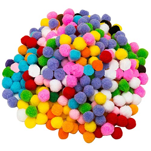 2000 Pieces Pom Poms Cheerleading Balls for Crafts Making,Hobby Supplies and DIY Creative Crafts Decorations,5mm…