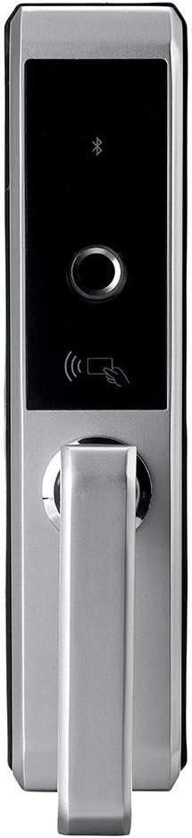 スマートな電子指紋のドアロック ホームベッドルームドアロックスマートロック木製ドア室内指紋ロック 家庭用、ホテル用 (Color : Silver, Size : One size)