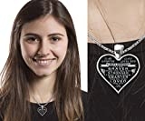 To my daughter - from dad - always remember quote heart pendant necklace silver