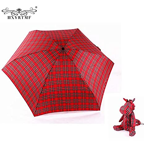 Umbrellas Rain Women Umbrella Women Ultralight Manual Umbrellas With Lovely Bear Small Umbrella Case 5 Folding