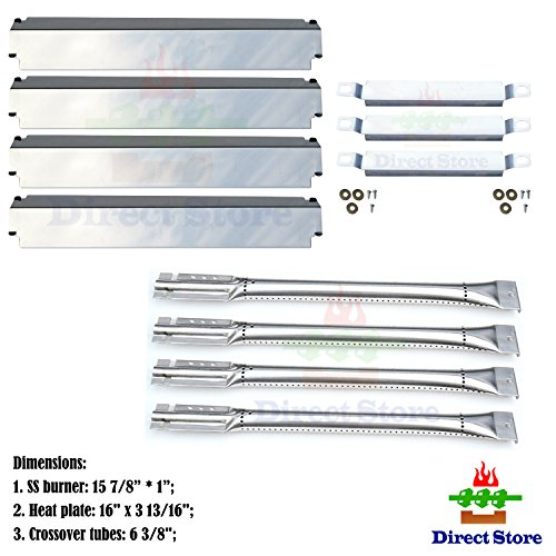 Direct store Parts Kit DG100 Replacement Charbroil Gas Grill Burners,Heat Plates and Crossover Tubes by Direct store
