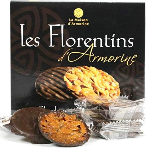 (Maison Armorine, Chocolate Florentine Biscuits, 8pc Tray (Dark) )