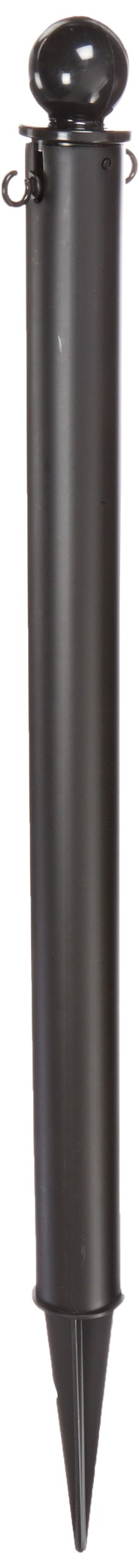 Mr. Chain 95403-6 Deluxe Ground Pole, 2-1/2'' Diameter x 35'' Height, Black (Pack of 6)