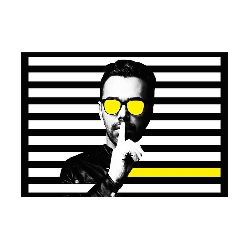 zgmtj Nordic Blanco y Negro Gafas de Sol Amarillas Línea de ...