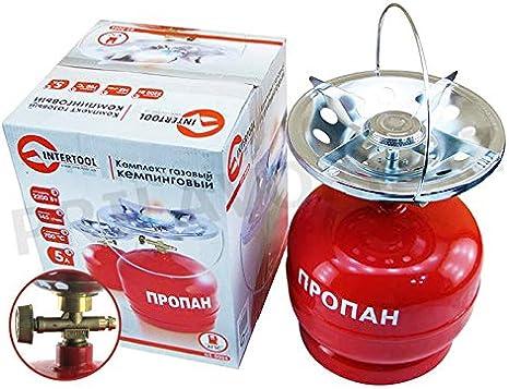 GELA - Hornillo de Gas para Camping con Botella de Gas ...