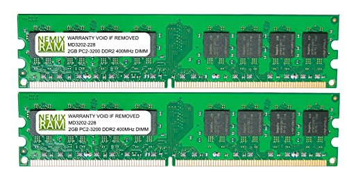 4GB (2 X 2GB) DDR2 400MHz PC2-3200 240-pin Memory RAM DIMM for Desktop PC